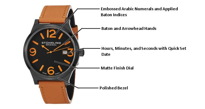 B008N79LZC 454.3355K1 photo1 - Stuhrling Original Leisure Mens 454.3355K1 watch