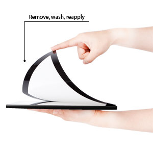 Moshi's i-visor is easily applied, removed, and washable