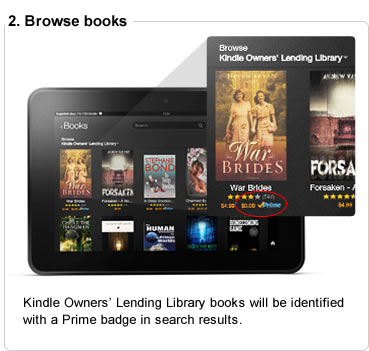 Kindle Owners� Lending Library books will be identified with a Prime badge in search results.