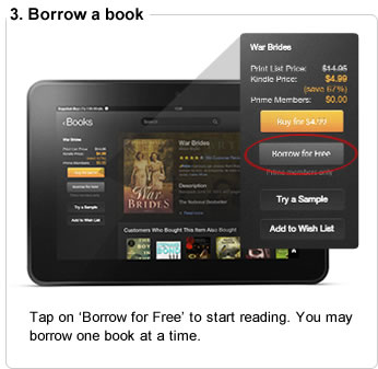 Tap on �Borrow for Free� to start reading. You may borrow one book at a time.