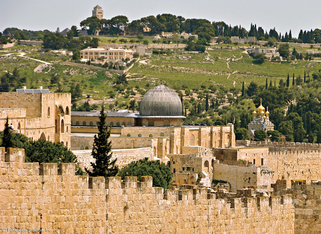 The walls of today's old city of Jerusalem were built by the Ottoman