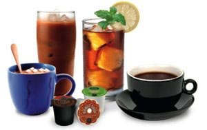 Brews a variety of beverages