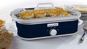 Amazon Com Crock Pot Sccpccm350 Bl Casserole Crock Slow Cooker 3 5 Quart Navy Blue Kitchen