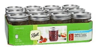 Amazon Com Ball Jar Crystal Jelly Jars With Lids And