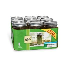 Set of 9 Wide Mouth Pint and half Jars