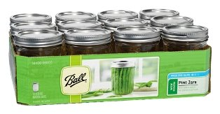 Set of 12 Wide Mouth Pint Jars