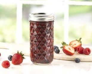 12-Ounce quilted crystal jar