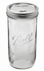 Pint wide mouth jar