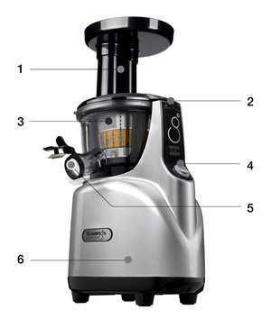 Kuvings Silent Juicer SC Series With Detachable Smart Cap, Silver Pearl%