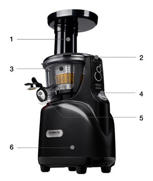 Kuvings Silent Juicer SC Series With Detachable Smart Cap, Black Pearl%