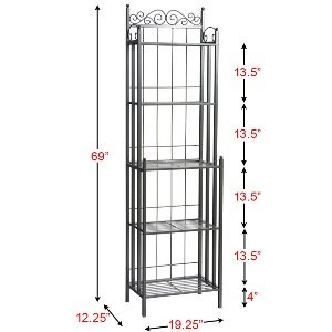 Amazon.com - SEI Celtic 69-Inch Metal Bakers Rack - Free Standing ...