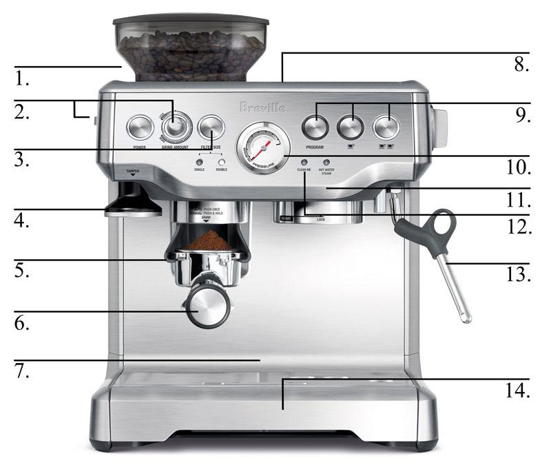 Amazon Com  Breville Bes860xl Barista Express Espresso Machine With Grinder  Kitchen  U0026 Dining