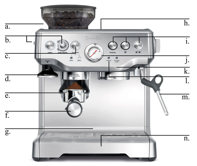 breville bes870xl barista espresso manual