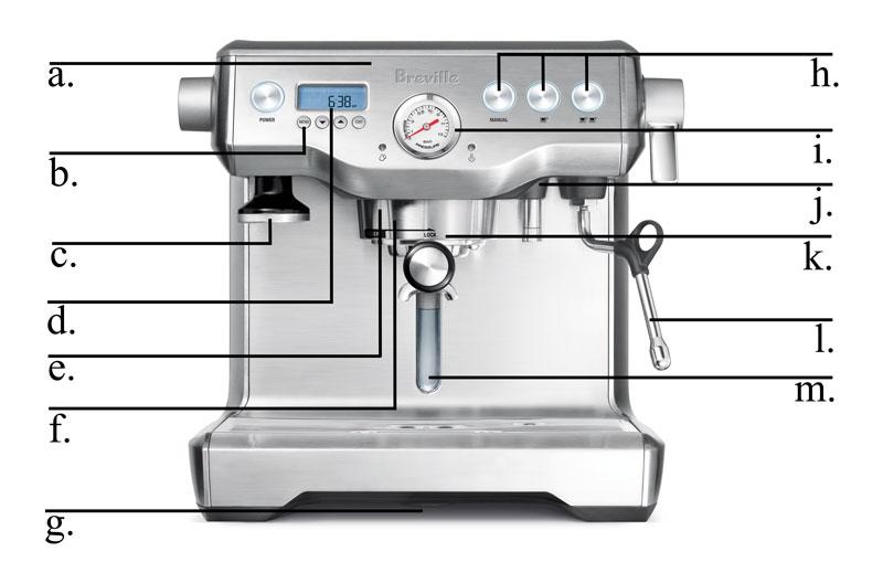 parts of a espresso machine
