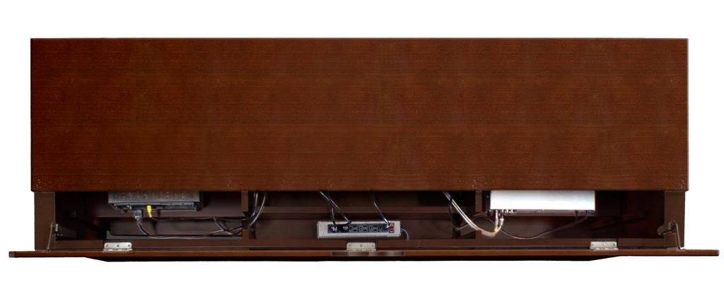 63-1/4-Inch Full-Sized Tall Entertainment TV Console; 31-Inch Height