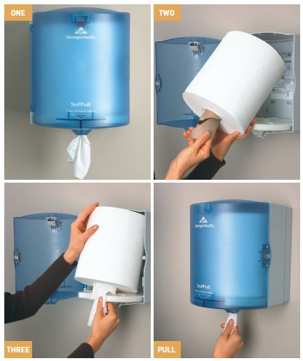 Georgia Pacific SofPull Premium Paper Towel Roll 1 Ply Center Pull White Amazoncom
