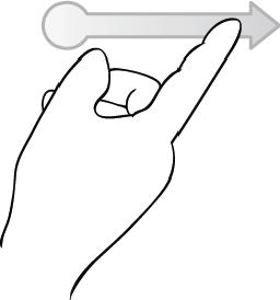 swipe (horizontal)