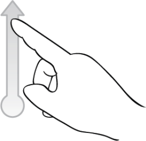 swipe (vertical)