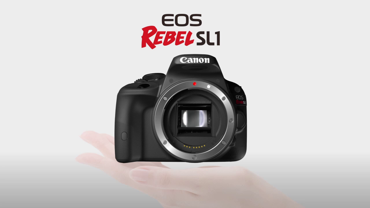 EOS Rebel SL1: The World's Smallest and Lightest DSLR, by Canon