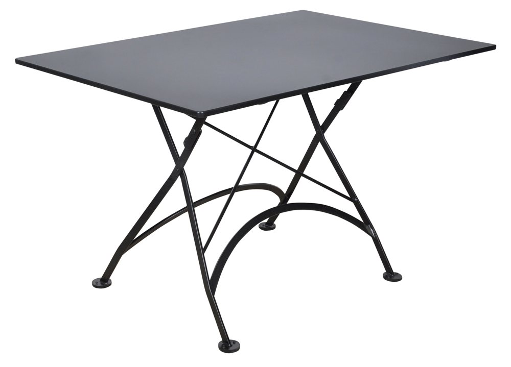 steel metal top and frame jet black folding patio tables patio