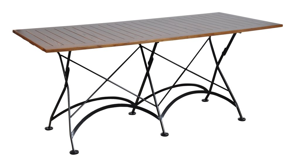 Furniture designhouse 4116cw bk handcrafted - Wooden outdoor folding table ...