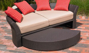 Corinth daybed footrest