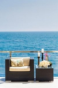 All-weather wicker furniture is easy to maintain  and durable, making it ideal for outdoor gatherings.