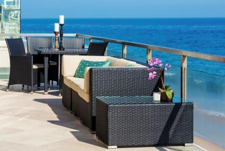 Combine seating sets, dining sets, and chaise lounge sets to create an ultimate outdoor space.