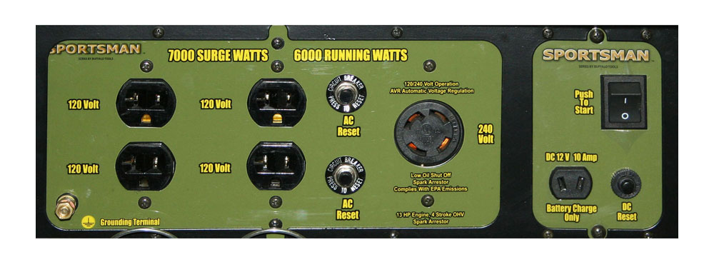 sportsman gen 7000lp control panel