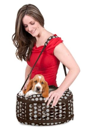 Assembled with dog and woman
