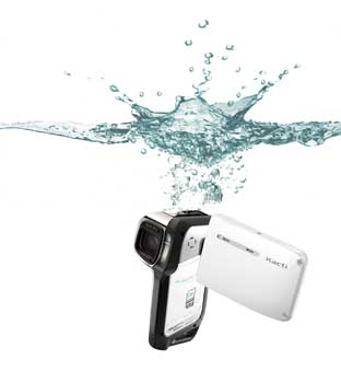 Sanyo E1 Waterproof Camcorder Features and Highlights