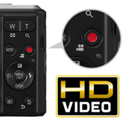 HD video capability of the Panasonic LUMIX DMC-F5