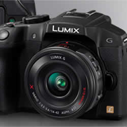 The sophisticated design of the Panasonic LUMIX DMC-G6 compact mirrorless digital camera