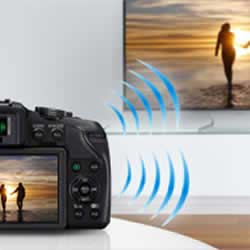 Wireless features of the  Panasonic LUMIX DMC-G6 compact mirrorless digital camera