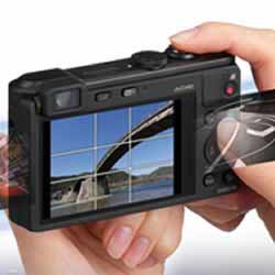 Creative panorama feature of the Panasonic LUMIX DMC-LF1 compact point and shoot digital camera