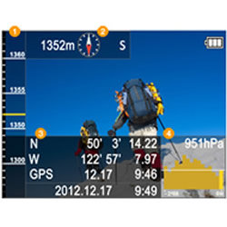 Altimeter, Compass, Depth, Barometer capabilities of the Panasonic LUMIX DMC-TS5