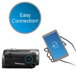 WiFi capabilities of the Panasonic HC-V520 HD Video Camcorder