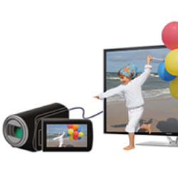 3D conversion feature of the of the Panasonic HC-V520 HD Video Camcorder