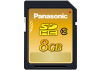 Panasonic Gold Series SDHC Memory Cards