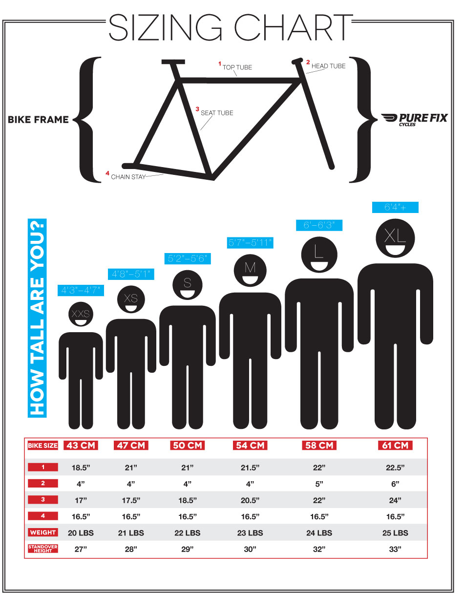 Bike Frame Size Chart Single Speed Bike forum