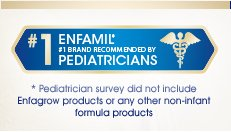 enfamil number 1 brand recommended by pediatricians