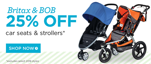 25% off britax and bob strollers