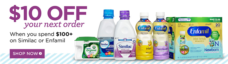 Up to $10 off Similac and Enfamil formula