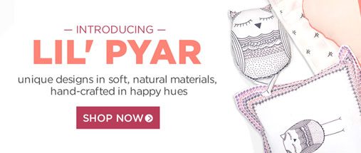 introducing lil' pyar. unique designs in soft, natural materials, hand-crafted in happy hues