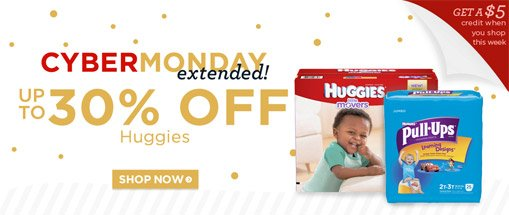 30% Off Huggies Diapers