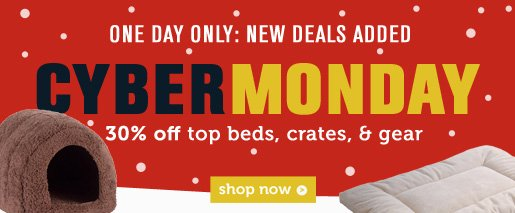 30% OFF beds, crates & gear