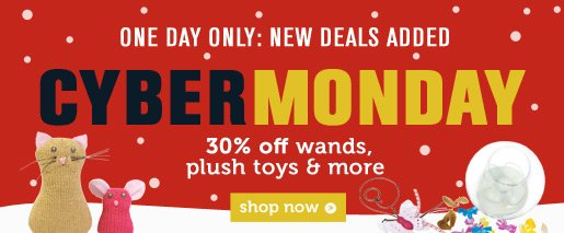 30% OFF Wands, plush toys & more