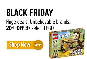 20% off 3+ LEGO