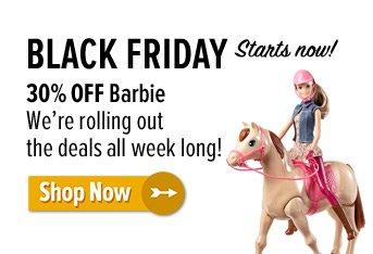 30% off Barbie