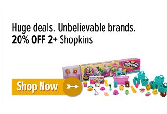 20% off 2+ Shopkins
